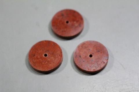 18φ  #500.  リューター、ルーター、研磨用レジン焼結ダイヤモンド砥石(湿式用) 外形18mmタイプ #500. 3個 外形18mm 厚み3mm 穴経1.7mm