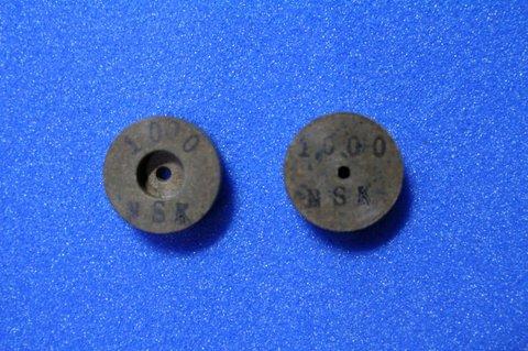 15パイ 6mm幅 #1000  リューター、ルーター、研磨用レジン焼結ダイヤモンド砥石(湿式用) 2個セット 穴径1.8ミリ