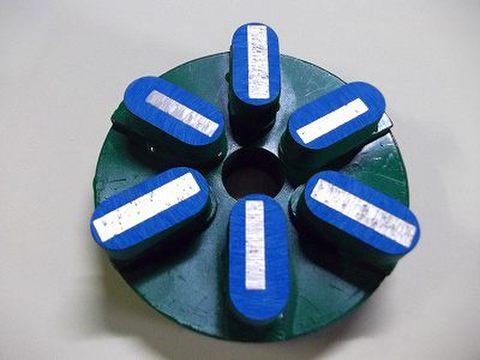 石材用メタル研磨盤 125ミリ #50 Z5   レジ巻きタイプ  (税抜き15000円 税1500円)