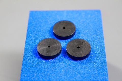 15φ  #60  リューター、ルーター、研磨用レジン焼結ダイヤモンド砥石(湿式用) #60 3個 外形15mm 厚み3mm 穴経1.7mm