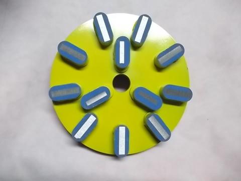 8インチ(200ミリ) #200 Z5 石材用メタル研磨盤 レジ巻きタイプ (税抜き20000円 税2000円)