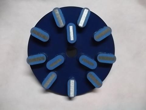 8インチ(200ミリ) #80 Z6M  石材用メタル研磨盤 レジ巻きタイプ (税抜き20000円 税2000円)