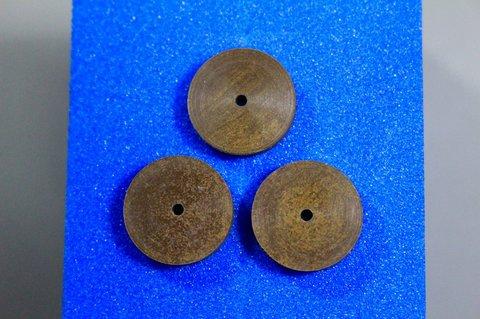 15φ  #1000   リューター、ルーター、研磨用レジン焼結ダイヤモンド砥石(湿式用) #1000 3個 外形15mm 厚み3mm 穴経1.7mm