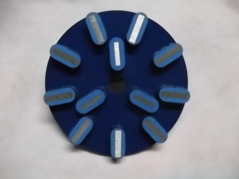 8インチ(200ミリ) #60 Z5 石材用メタル研磨盤 レジ巻きタイプ  (税抜き20000円 税2000円)