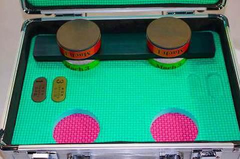 NSK工業スピードスケートダイヤ砥石ダブルアルミケースセット NO 1,3  (税抜き50000円 税3000円)