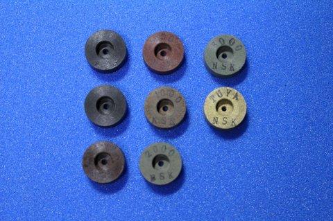 15φ  6mm幅 #60 -艶白  リューター、ルーター、研磨用レジン焼結ダイヤモンド砥石(湿式用) 8個セット 穴径1.8ミリ