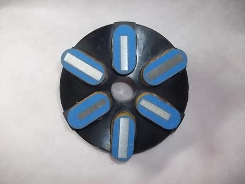 石材用メタル研磨盤  125ミリ #400  Z5   レジ巻きタイプ     (税抜き15000円 税1500円)