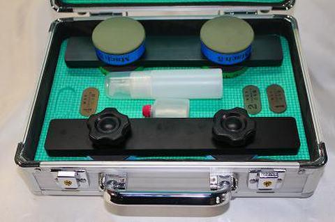 NSK工業スピードスケートCBN砥石アルミケースセット NO 0,2,5 ブラックアルミハンドル (税抜き80000円 税8000円)