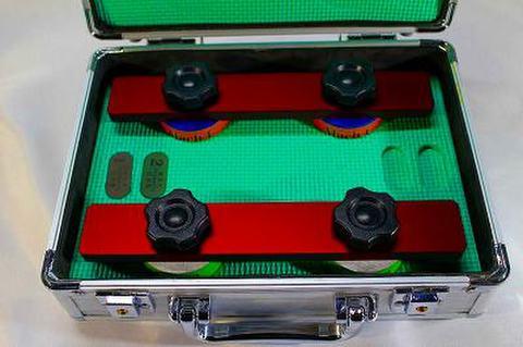 NSK工業スピードスケートダイヤ砥石アルミケースセット NO 1,3 レツドアルミハンドル (税抜き54000円 税5400円)