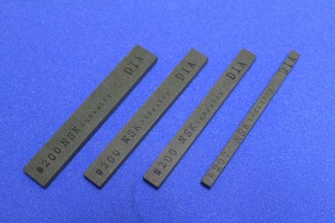 ダイヤモンドスティック砥石 焼結レジンボンド #200      幅16mm×厚み5mm×長さ100mm