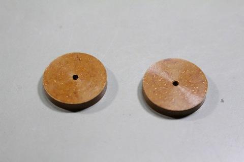 15φ   #6000   リューター、ルーター、研磨用レジン焼結ダイヤモンド砥石(湿式用) #6000 2個 外形15mm 厚み3mm 穴経1,7mm