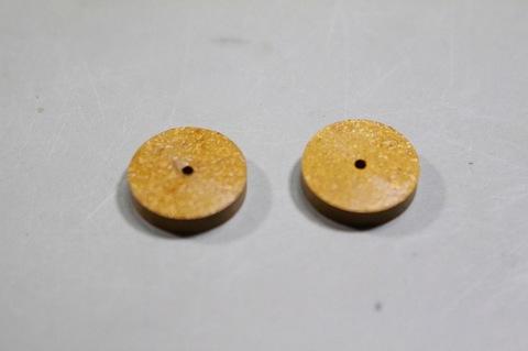 15φ   #10000  リューター、ルーター、研磨用レジン焼結ダイヤモンド砥石(湿式用) #10000 2個 外形15mm 厚み3mm 穴経1.7mm