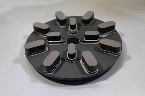 8インチ(200ミリ)#400 S6 8刃4刃タイプ レジンダイヤモンド研磨盤  (税抜き17000円 税1700円)