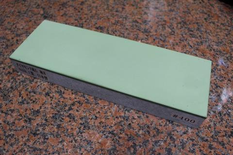 受注生産品 3寸3分幅ダイヤモンド角砥石 #400 極刃 幅広サイズ大 W100ミリ×H33.5ミリ(ダイヤ層3.5mm)×L290ミリ