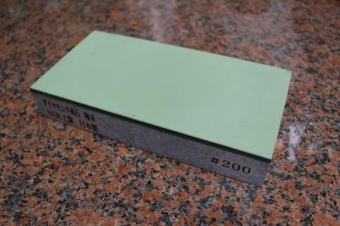 生産受注品 3寸3分幅ダイヤモンド角砥石 #200 極刃 幅広サイズ小 W100ミリ×H33.5ミリ(ダイヤ層3.5mm)×L200ミリ