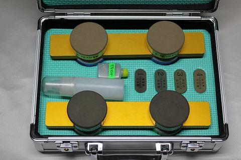 スピードスケートブレード研磨用 焼結ダイヤ砥石Mach4本セット 1,3,4,5ゴールドハンドル(税抜き89000円 税8900円)
