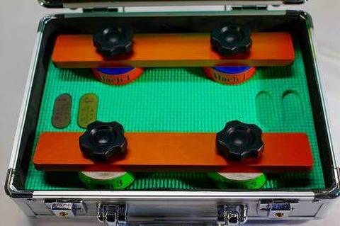 NSK工業スピードスケートダイヤ砥石アルミケースセット NO 1.3 ゴールドアルミハンドル (税抜き54000円 税5400円)