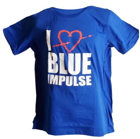 """★ブルーインパルス ★ エール飛行記念 Tシャツ """" I LOVE BLUE IMPULSE """"  ロイヤルブルー Kid's用 も有ります!"""