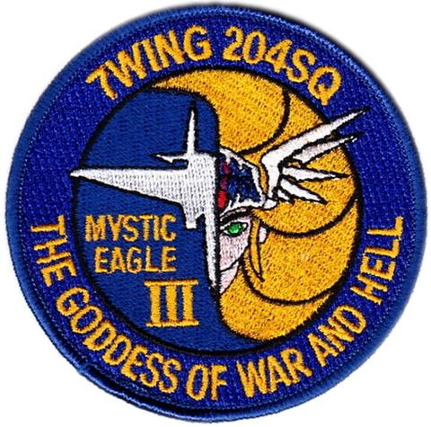 戦競 F-15部門 第204飛行隊 ミスティックイーグルⅢパッチ ワルキューレ