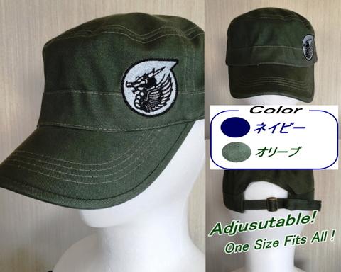 第303飛行隊 ファイティングドラゴン ワークキャップ OD色