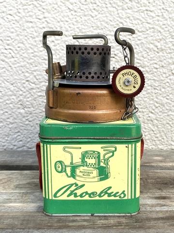 【実働品】ホエーブス Phoebus No.725 旧旧型 角缶 1950年代製造モデル オーストリア製シングルバーナー