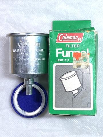 【未使用品】コールマン No.0 アルミファンネル NOS ブルーフィルター付き Coleman 199B1111