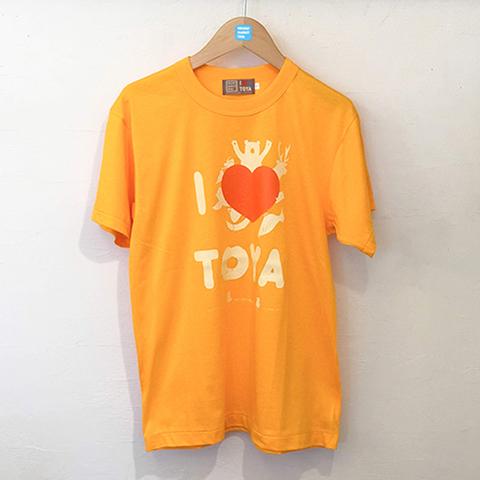 "I LOVE TOYA    JAPAN MADE T-SHIRTS ""LIGHT FIT"" [Shining lake/yellow]"