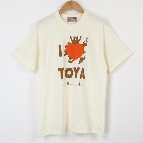 "I LOVE TOYA    JAPAN MADE T-SHIRTS ""LIGHT FIT"" [Snow lake/ivory]"