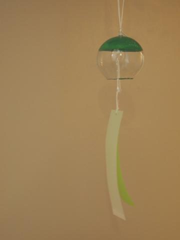 小さないろどり江戸風鈴 緑