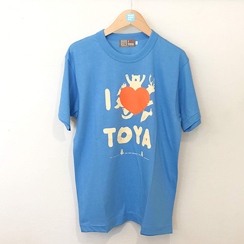 "I LOVE TOYA    JAPAN MADE T-SHIRTS ""LIGHT FIT"" [Morning lake/light blue]"