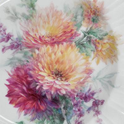 絵付テキストNo.65【菊のブーケ】