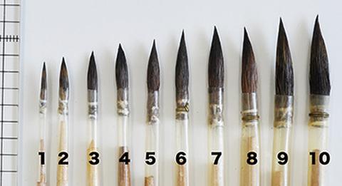 ドイツ製丸筆・平筆各種