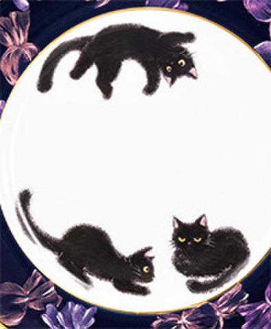 絵付テキストNo.64【ハロウィンの黒猫】