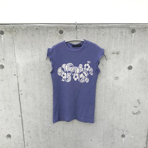 blue-purple frill tank top