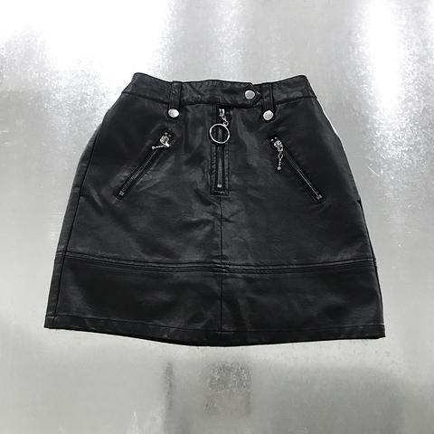 fake leather short pants skirt