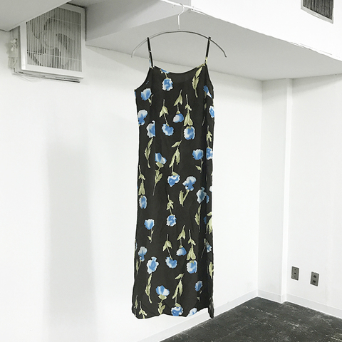 blue flower camisole dress
