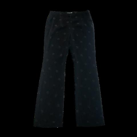 伊太利屋 monogram black pants