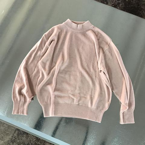 dusky pink high-neck knit