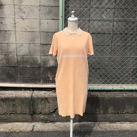 courrèges soft orange dress