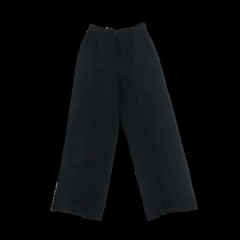 black linen tuck pants