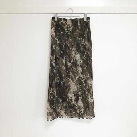 abstract pattern power net skirt