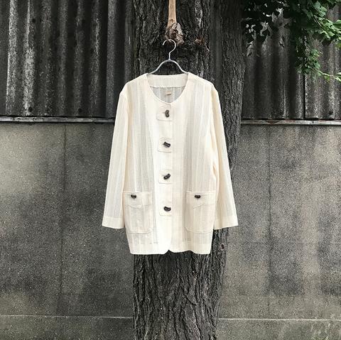 mesh beige jacket