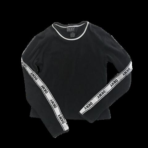 DKNY logo sleeve tops