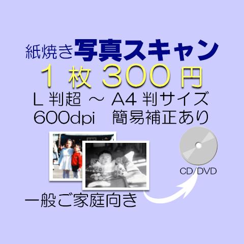 写真スキャン/A4判まで・解像度600dpi