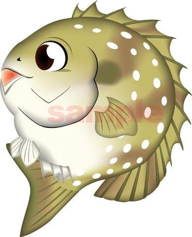 魚イラスト・デフォルメ》アイゴ Ai形式/png形式(選択可)