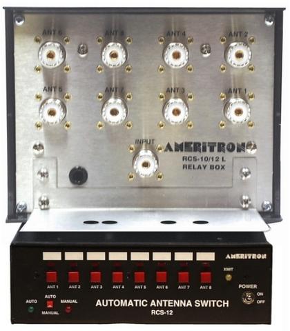RCS-12L 周波数連動リモートアンテナスイッチ 8回路 避雷装置付u