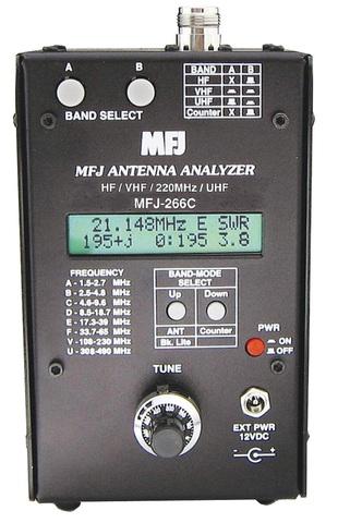 MFJ-266C アンテナアナライザー 中波から430MHz体までアンテナ調整に