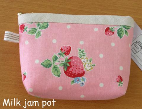 苺のミニポーチ(ピンク)