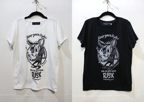Jack'Bambi S/S tee [Lady's] Rockin'Jelly Bean × RISK