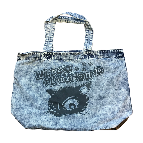 DENIM TOTE BAG(CAT-LOGO)【WILDCAT】